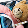 Toy bear is sick — Stock Photo