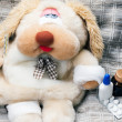 Royalty-Free Stock Photo: Toy dog is sick