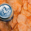 Beer and chips — Stock Photo