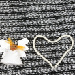 Funny paper angel girl and heart — Stock Photo