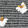 Two cheerful paper angel  — Stock Photo