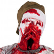 Captive blind bloody zombie — Stock Photo