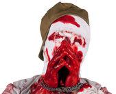 Captive blind bloody zombie — Stock Photo