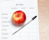 Diet Plan. — Stock Photo