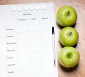 Diet Plan. — Fotografia Stock