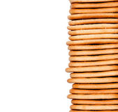 Homemade cookies stacked — Stock Photo