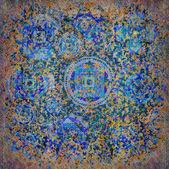 Geometric pattern blue — Stock Photo