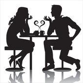 Couples — Stock Vector