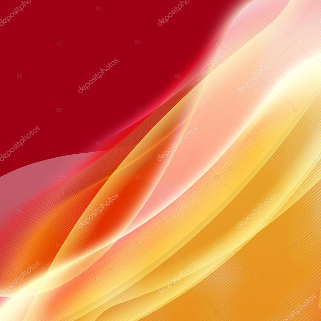 Background wave,  yellow and red bands  Stock Photo #12412562