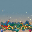 Background christmas — Stock Vector