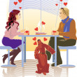 Stock Vector: Couples
