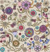 Floral design seamless — Stock Vector