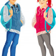 Vector de stock : Teenagers