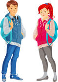 Teenagers — Stock Vector
