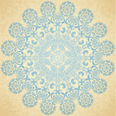 Pattern blue, old paper — Stock Vector