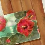 Floral design old postcard — Stock Photo