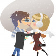 Dating winter — Stock Vector