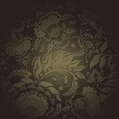 Floral design dark — Stock Vector