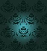 Floral design dark — ストックベクタ