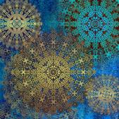 Ornament blue — Стоковое фото