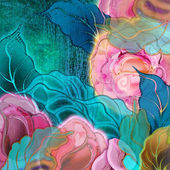 Background floral, roses — Stock Photo