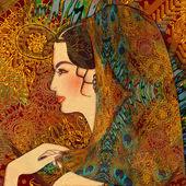 Beautiful woman, oriental girl — Stock Photo