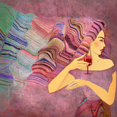 Abstract background woman — Stock Photo