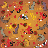 Katze-Haustier-Hintergrund — Stockvektor