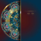 Floral design, postcard, menu background 10 eps — Stock Vector