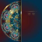 Diseño floral, postal, menú fondo 10 eps — Vector de stock