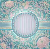 Light green postcard 10eps — Stock Vector
