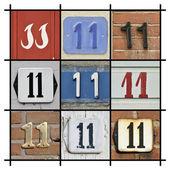 Numeri undici — Foto Stock