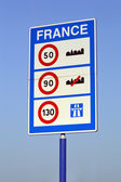 Speed limits in France — Stock Photo