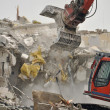 Demolition by Excavator — Stock Photo