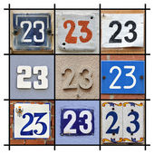 Numbers twenty-three — Stock Photo