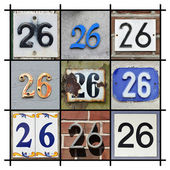 Numbers Twenty-six — Stock Photo