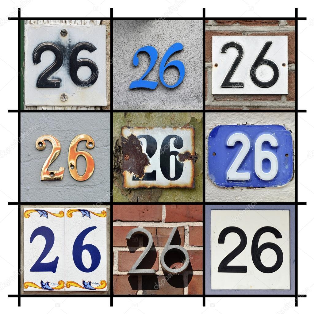 房子的抽象拼贴画数字二十六个 — 照片作者 defotoberg