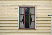 Window with curtain — Stock Photo