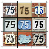 Numbers Seventy-five — Stock Photo