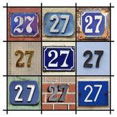 Numery dwadzieścia-siedem — Zdjęcie stockowe