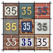 čísla třicet pět — Stock fotografie