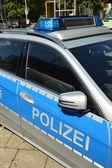 Auto de la policía alemana — Foto de Stock