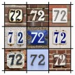 Stock Photo: Numbers Seventy-two