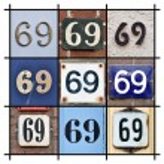 Numbers Sixty-nine — Stock Photo #23662071