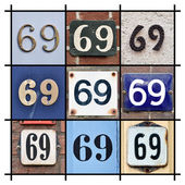 Numbers Sixty-nine — Stock Photo