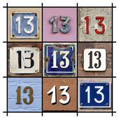 Numbers Thirteen — Stock Photo