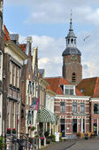 Houses and tower in Blokzijl — Stock Photo