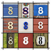 Numbers Eight — Stock Photo