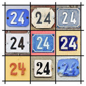 Numbers Twenty-four — Stock Photo