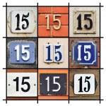House Numbers Fifteen — Stok fotoğraf #26770299